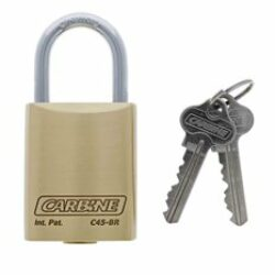 Carbine C45 Brass Padlock, 8MM X 30MM MOLY SHACKLE, Keyed to Differ , Boxed Single
